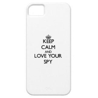 Keep Calm and Love your Spy iPhone 5 Case