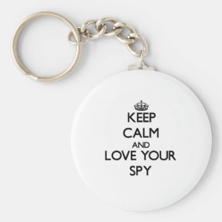Keep Calm and Love your Spy Key Chain