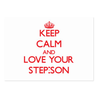Keep Calm and Love your Step-Son Large Business Cards (Pack Of 100)