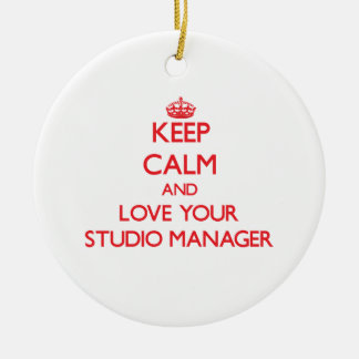 Keep Calm and Love your Studio Manager Christmas Ornament