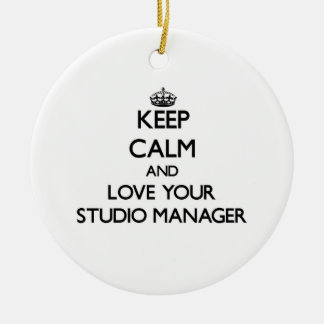Keep Calm and Love your Studio Manager Christmas Tree Ornaments