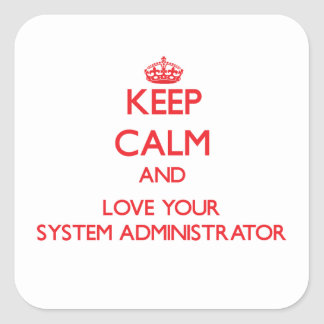 Keep Calm and Love your System Administrator Stickers