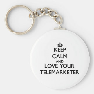 Keep Calm and Love your Telemarketer Basic Round Button Keychain