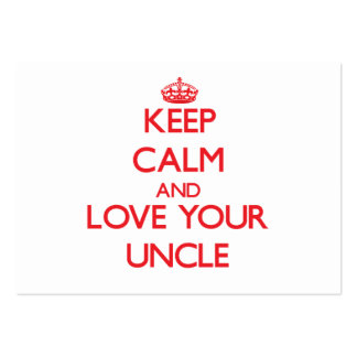 Keep Calm and Love your Uncle Large Business Cards (Pack Of 100)