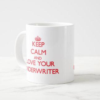 Keep Calm and Love your Underwriter Large Coffee Mug