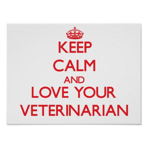 Keep Calm and Love your Veterinarian Poster