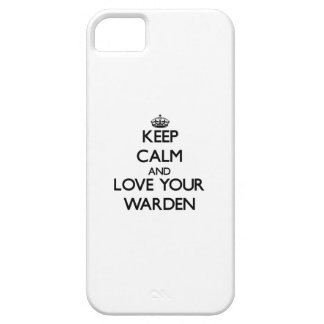 Keep Calm and Love your Warden iPhone 5 Covers