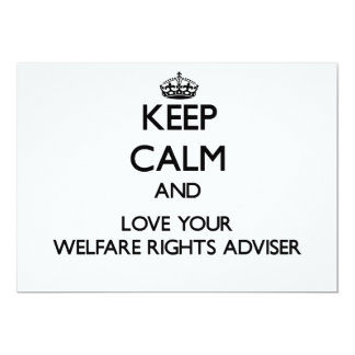 Keep Calm and Love your Welfare Rights Adviser Personalized Invitation
