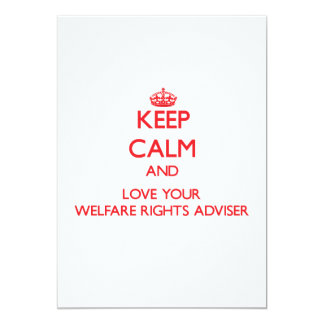 Keep Calm and Love your Welfare Rights Adviser Card