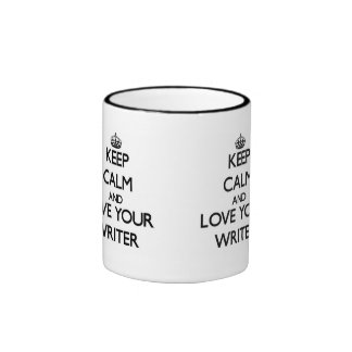 Keep Calm and Love your Writer Ringer Mug