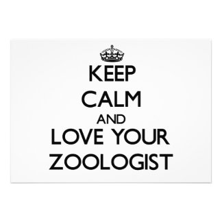 Keep Calm and Love your Zoologist Personalized Invitations