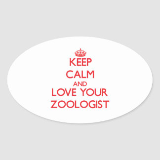 Keep Calm and Love your Zoologist Sticker