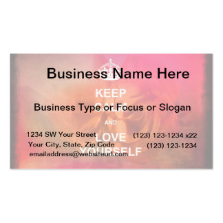 Keep calm and love yourself Double-Sided standard business cards (Pack of 100)