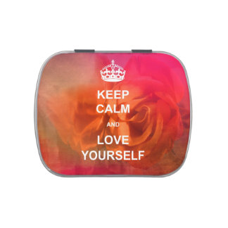 Keep calm and love yourself candy tin