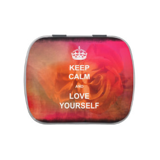 Keep calm and love yourself jelly belly tins
