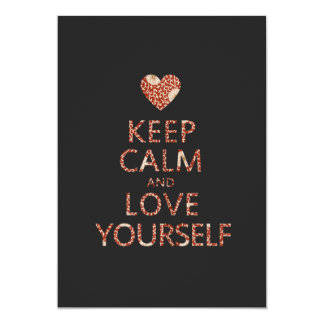 Keep Calm and Love Yourself 5x7 Paper Invitation Card