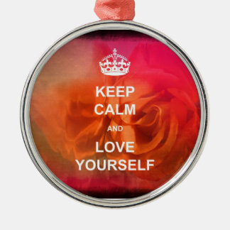Keep calm and love yourself christmas tree ornaments