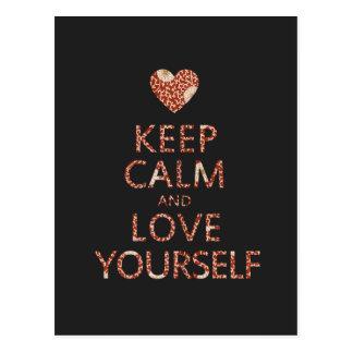 Keep Calm and Love Yourself Postcard