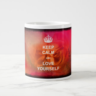 Keep calm and love yourself 20 oz large ceramic coffee mug