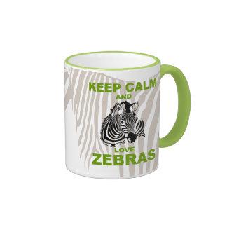 Keep Calm and Love Zebras unique design Mug
