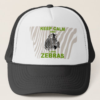 Keep Calm and Love Zebras unique design Trucker Hat