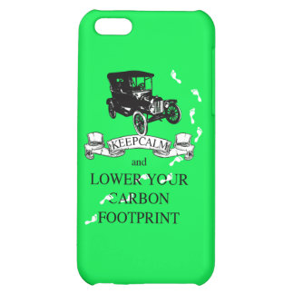 Keep Calm and Lower Your Carbon Footprint Design iPhone 5C Cover