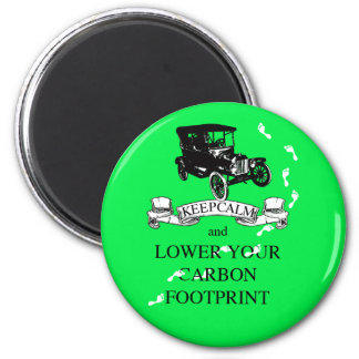 Keep Calm and Lower Your Carbon Footprint Design Magnet