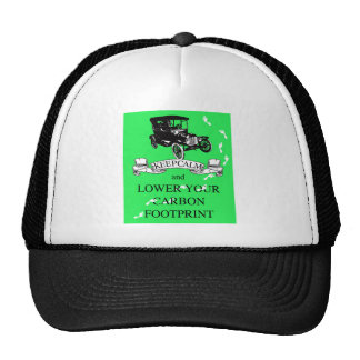 Keep Calm and Lower Your Carbon Footprint Design Trucker Hat