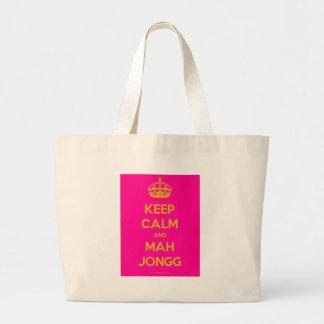 Keep-Calm-And-Mah-Jongg.pdf Bolsa Tela Grande