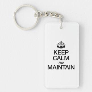 KEEP CALM AND MAINTAIN RECTANGLE ACRYLIC KEYCHAINS