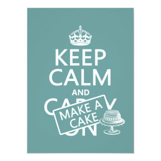 Keep Calm and Make A Cake (customize colors) Card