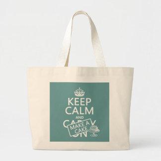 Keep Calm and Make A Cake (customize colors) Jumbo Tote Bag