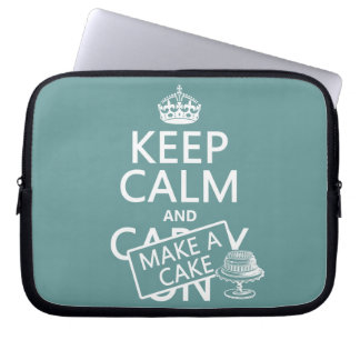 Keep Calm and Make a Cake Laptop Sleeve