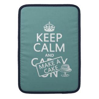 Keep Calm and Make a Cake MacBook Air Sleeve