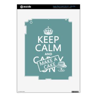Keep Calm and Make a Cake Skin For iPad 3