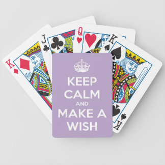 Keep Calm and Make A Wish Lavender Bicycle Playing Cards