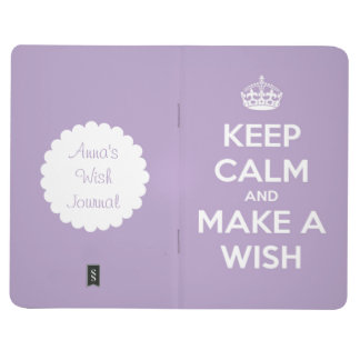 Keep Calm and Make a Wish Lavender Journal