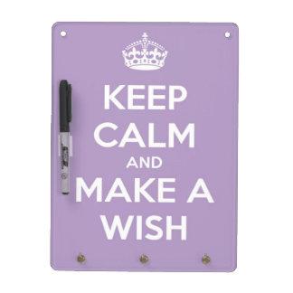 Keep Calm and Make A Wish Lavender Memo Board