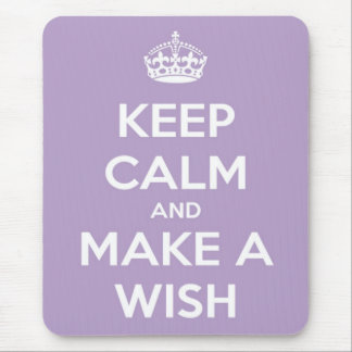 Keep Calm and Make A Wish Lavender Mouse Pad