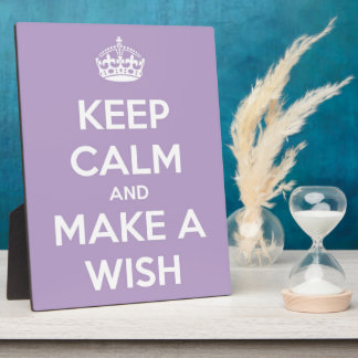 Keep Calm and Make A Wish Lavender Plaque