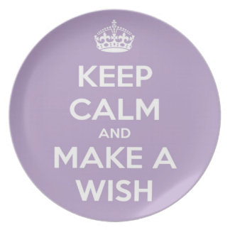 Keep Calm and Make A Wish Lavender Dinner Plates