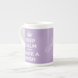 Keep Calm and Make A Wish Lavender Tea Cup