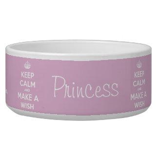 Keep Calm and Make a Wish Pink Bowl
