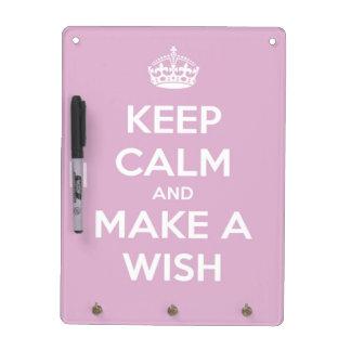 Keep Calm and Make A Wish Pink Memo Board
