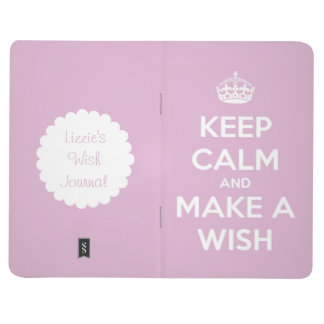 Keep Calm and Make a Wish Pink Personalized Journal