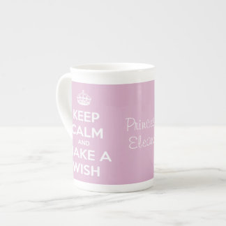 Keep Calm and Make a Wish Pink Tea Cup