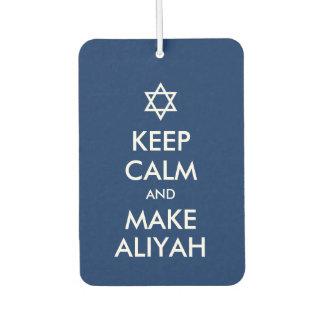 Keep Calm And Make Aliyah Air Freshener