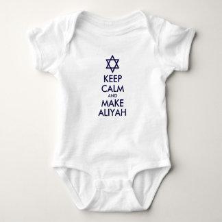 Keep Calm And Make Aliyah Baby Bodysuit
