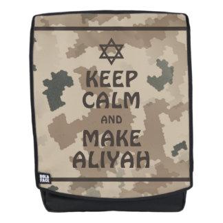 Keep Calm And Make Aliyah Backpack
