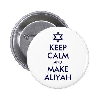 Keep Calm And Make Aliyah Button